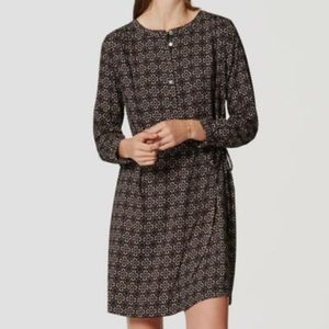 LOFT Tiled Endlessly Modern Shirt Dress - Size L